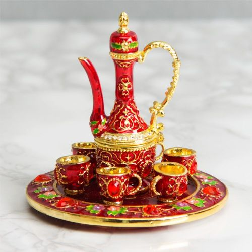 Moroccan  Style Tea Set Trinket Box - Treasured Trinkets Collectable Jewellery Box